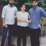 Kanishk Seth With His Mother and Brother