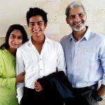 Karim Hajee with his wife and son