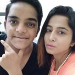 Kate Sharma with brother