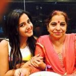 Kate Sharma with mother