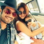 Keerti Kelkar with her husband and daughter