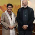 Kiran Bedi With Current Prime Minister of India Narendra Modi