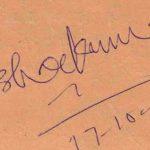 Kishore Kumar Signature
