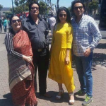 Koel Mallick with husband and in-laws