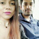 Komal Pandey with her boyfriend Ravit