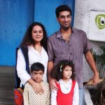 Kunaal Roy Kapur with his wife and children