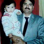 Lekha Prajapati (Childhood) with her father Jugal Prajapati