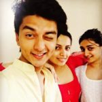 Lekha Prajapati with her brother and sister