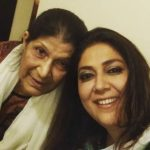 Lubna Salim with her mother