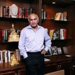 M J Akbar At The Asian Age Office In New Delhi