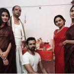 Mahek Thakur with family