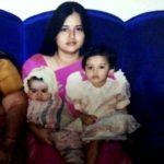 Malvika Sharma (Childhood) with her mother and brother Vedant Sharma (Childhood)