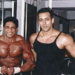 Manish Advilkar with Salman Khan