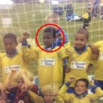 Marcus Rashford in His childhood playing Football