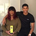 Marcus Rashford with His Mother