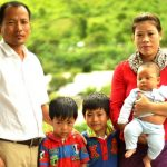 Mary Kom with husband and sons