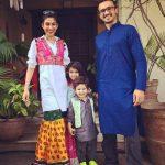 Meesha Shafi With Her Husband and Kids