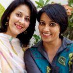 Meghna Malik with her sister Mimansa Malik
