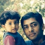 Meghna Srivastava's Childood Picture With Her Father