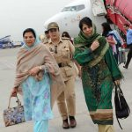 Mehbooba Mufti With Her Mother