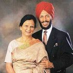 Nirmal Kaur With Her Husband Milkha Singh