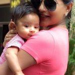 Mitali Nag with son
