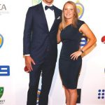 Mitchell Starc with his wife Alyssa Healy