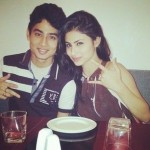 Mukhar Roy with his sister Mouni Roy