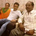 Mubeen Saudagar with parents
