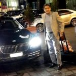 Mukesh Hariawala with his BMW car