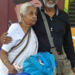 Mukul Nag with his mother