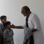 Morari Bapu's Visiting the School