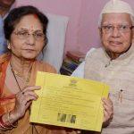 N D Tiwari With His Second Wife Ujjawala
