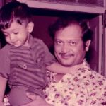 Nakul (Childhood) with his father Jaidev