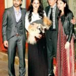 Namrata Dutt With Daughter Saachi And Son-In-Law Bilal Amrohi