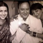 Namrata Dutt With Sunil Dutt And Priya Dutt