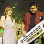 Natalie Di Luccio performing with A. R. Rahman