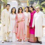 Natasha Jain with her family (from left)- brother Ekansh, sister Rushna, mother Neera, Natasha, sister-in-law Priyanka, and father Ravindra