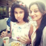 Neelam Pathania with her daughter