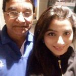 Neha Marda with her father