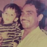 Nikhil childhood picture with his father