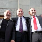 Nikol Pashinyan Extreme Right With Levon Ter Petrosyan Center
