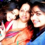 Nithya Ram with her mother and sister