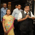 Nitin Gadkari With His Wife