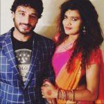 Nitin Goswami with his wife