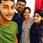 Nivetha Thomas with her family