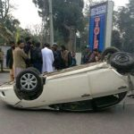 Pakistani Singer Qurat-ul-Ain Balouch Car Spotted Flipped After Having Collided With Another Car
