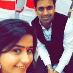 Palak Jain with brother