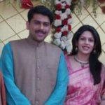 Palki S Upadhyay With Her Husband Sanket