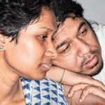Papon with his sister Kingkini Mahanta